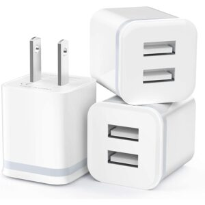The Best USB Wall Charger Option: USB Wall Charger, LUOATIP 3-Pack 2.1A_5V Dual Port