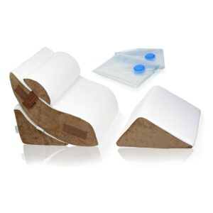 The Best Wedge Pillow Option: Lunix 4pcs Orthopedic Bed Wedge Pillow Set