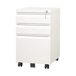 The Best File Cabinet Option: DEVAISE 3 Drawer Mobile File Cabinet with Lock