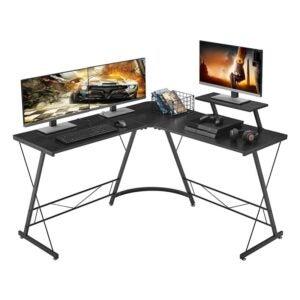 The Best L-Shaped Desk Option: Mr IRONSTONE L-Shaped Desk