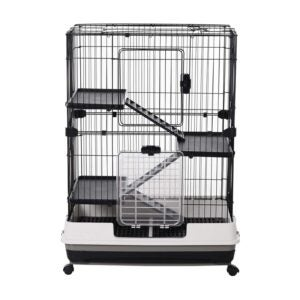 """The Best Rat Cage Option: PawHut 32"""" 4-Level Indoor Small Animal Cage"""