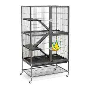 The Best Rat Cage Option: Prevue Hendryx Black Feisty Ferret Cage