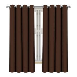 The Best Thermal Curtains Option: Utopia Bedding Grommet Blackout Curtains