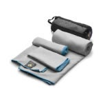 The Best Travel Towel Option: OlimpiaFit 3 Size Set Microfiber Towels