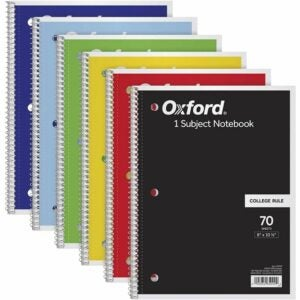 "The Best Notebooks Option: TOPS/Oxford 1-Subject Notebooks, 8"" x 10-1/2"""