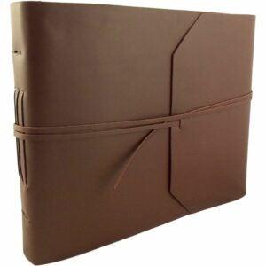 The Best Photo Album Option: Rustic Ridge Leather Photo Album with Scrapbook Pages