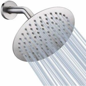 The Best Rain Shower Head Option: NearMoon High Pressure Shower Head, 8 inch