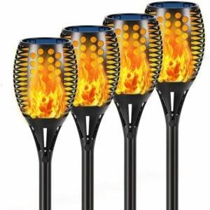 "The Best Tiki Torch Option: Aityvert Solar Lights, 43"" Flickering Flames"