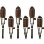 The Best Tiki Torch Option: Backyadda Bamboo Torches; Decorative Torches