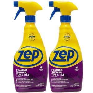 Best Bathtub Cleaner Options: Zep Foaming Shower Tub and Tile Cleaner 32 ounce