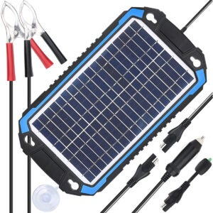 最佳电池充电器Options: SUNER POWER 12V Solar Car Battery Charger