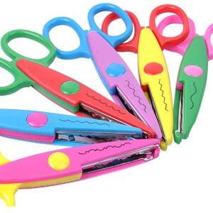 最佳剪刀选项:UCEC 6多彩装饰纸刃剪刀套装