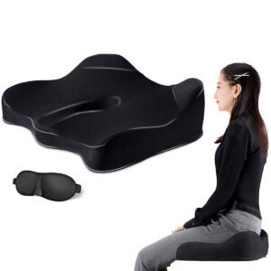 Best Seat Cushion Options: VISHNYA Seat Cushion 100% Pure Memory Foam Chair Cushion