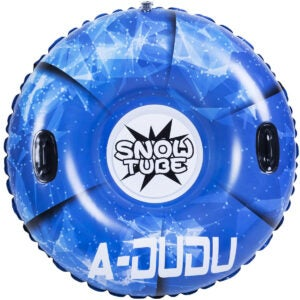 Best Sled Options: A-DUDU Snow Tube - Super Big 47 Inch Inflatable Snow Sled