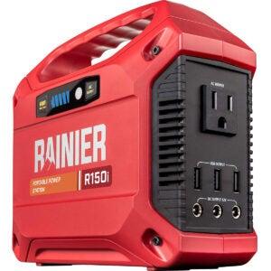 最佳太阳能发电机选项:Rainier户外电源设备R150i