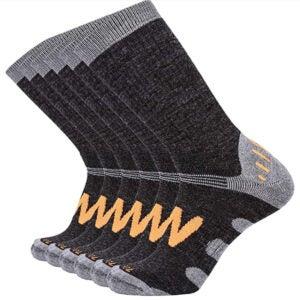 Best Wool Socks Options: Enerwear 6P Pack Men's Merino Wool Blended Outdoor Walking Socks