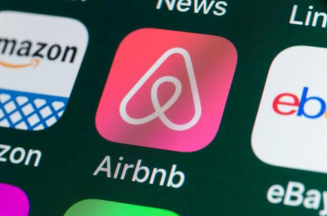 airbnb app on smartphone