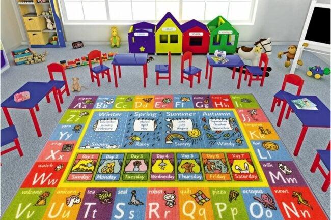 儿童选项的地板垫