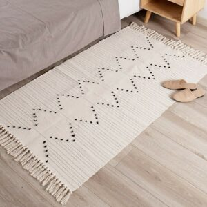 The Best Kitchen Rugs Option: idee-home Boho Kitchen Rug Runner with Tassel Woven