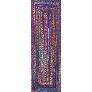 The Best Kitchen Rugs Option: nuLOOM Tammara Boho Cotton Hand Braided Runner Rug