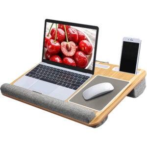 最好的膝盖桌面选项:华润圈桌,内置鼠标托纳