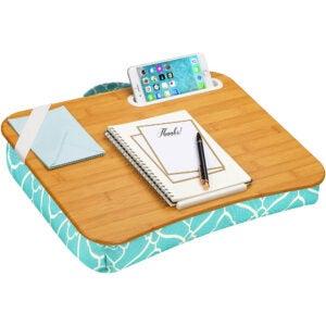 最好的膝盖桌面选项:Lapgear Designer Lap桌子带电话架