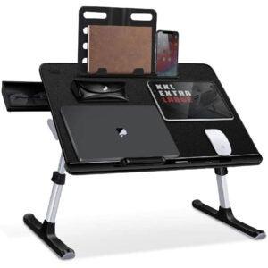 最好的膝盖桌面选项:Saiji可调节笔记本桌床