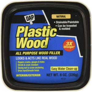 The Best Stainable Wood Option: FillerDAP 8135 Plastic Wood Latex Natural Hp Raw