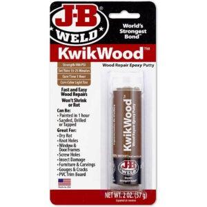 最好的不稳定木材选项:Fillerj-B焊接8257 kwikwood木修复环氧腻子棒