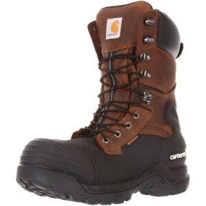 最好的钢铁鞋选择:Carhartt Men's 10防水绝缘PAC靴