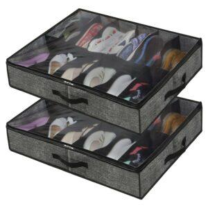 The Best Underbed Storage Option: Onlyeasy Under Bed Shoe Storage Organizer