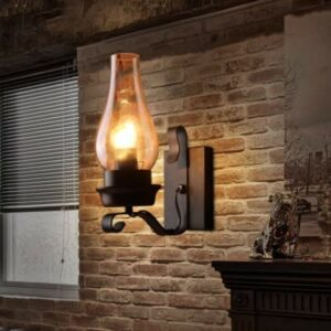 The Best Wall Sconces Option: LightInTheBox Retro Rustic Nordic Glass Wall Lamp