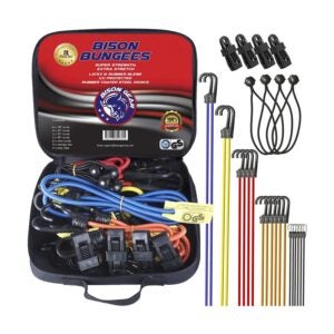 The Best Bungee Cords Option: Bison Gear 28-Piece Premium Bungee Cord Assortment