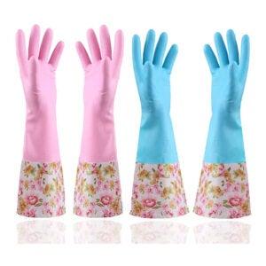 The Best Dishwashing Gloves Option: KINGFINGER Rubber Latex Waterproof Dishwashing Gloves