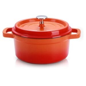 The Best Dutch Oven Option: SULIVES Enameled Cast Iron Dutch Oven with Lid, 1.5qt