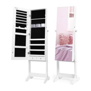 The Best Jewelry Organizer Option: Nicetree Jewelry Cabinet with Full-Length Mirror
