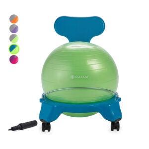 The Best Kids' Desk Chair Option: Gaiam Kids Balance Ball Chair
