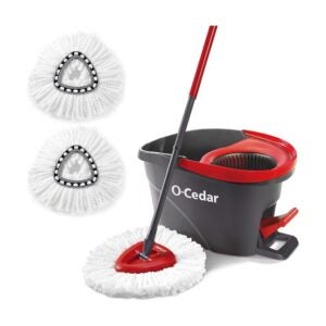 The Best Mop for Wood Floors Option: O-Cedar Easywring Spin Mop & Bucket