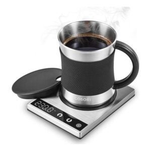 The Best Mug Warmer Option: COSORI Coffee Mug Warmer & Mug Set