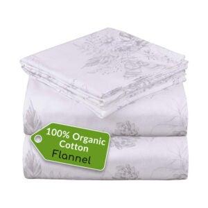 The Best Organic Sheet Option: Mellanni 100% Organic Cotton Flannel Sheet Set