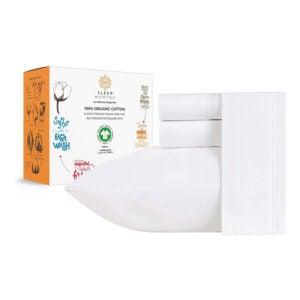 The Best Organic Sheet Option: Sleep Mantra 100% Organic Cotton Bed Sheets