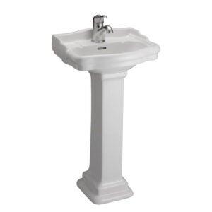 The Best Pedestal Sink Option: Barclay 3-871WH Stanford U-Shaped Pedestal Sink