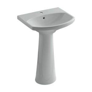 The Best Pedestal Sink Option: KOHLER Cimarron Ceramic Pedestal Sink with Overflow