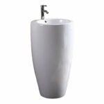 The Best Pedestal Sink Option: Zipcode Design Thomaston 20'' Circular Pedestal Sink