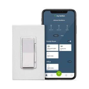 The Best Smart Dimmer Switch Option: Leviton Decora Smart LED Incandescent Dimmer