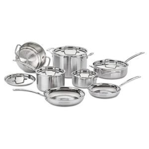 The Best Stainless-Steel Cookware Option: Cuisinart Multiclad Pro Stainless Steel 12-Piece Set