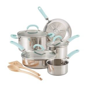 The Best Stainless-Steel Cookware Option: Rachael Ray Create Delicious Stainless Steel Set