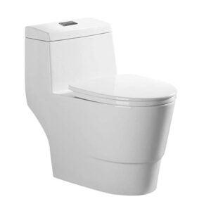 最好的厕所选项:Woodbridge现代设计,一件,双冲洗