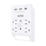 The Best USB Wall Outlet Option: GPED USB Wall Outlet Surge Protector