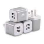The Best USB Wall Outlet Option: X-EDITION USB Wall Charger 4-Pack
